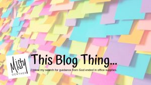 This Blog Thing…