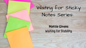 Waiting for Stability – Guest Post: Mattie Givens