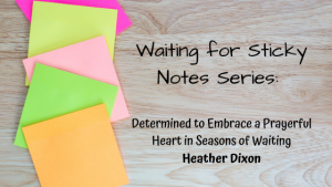 Determined to Embrace a Prayerful Heart in Seasons of Waiting – Guest Post: Heather Dixon