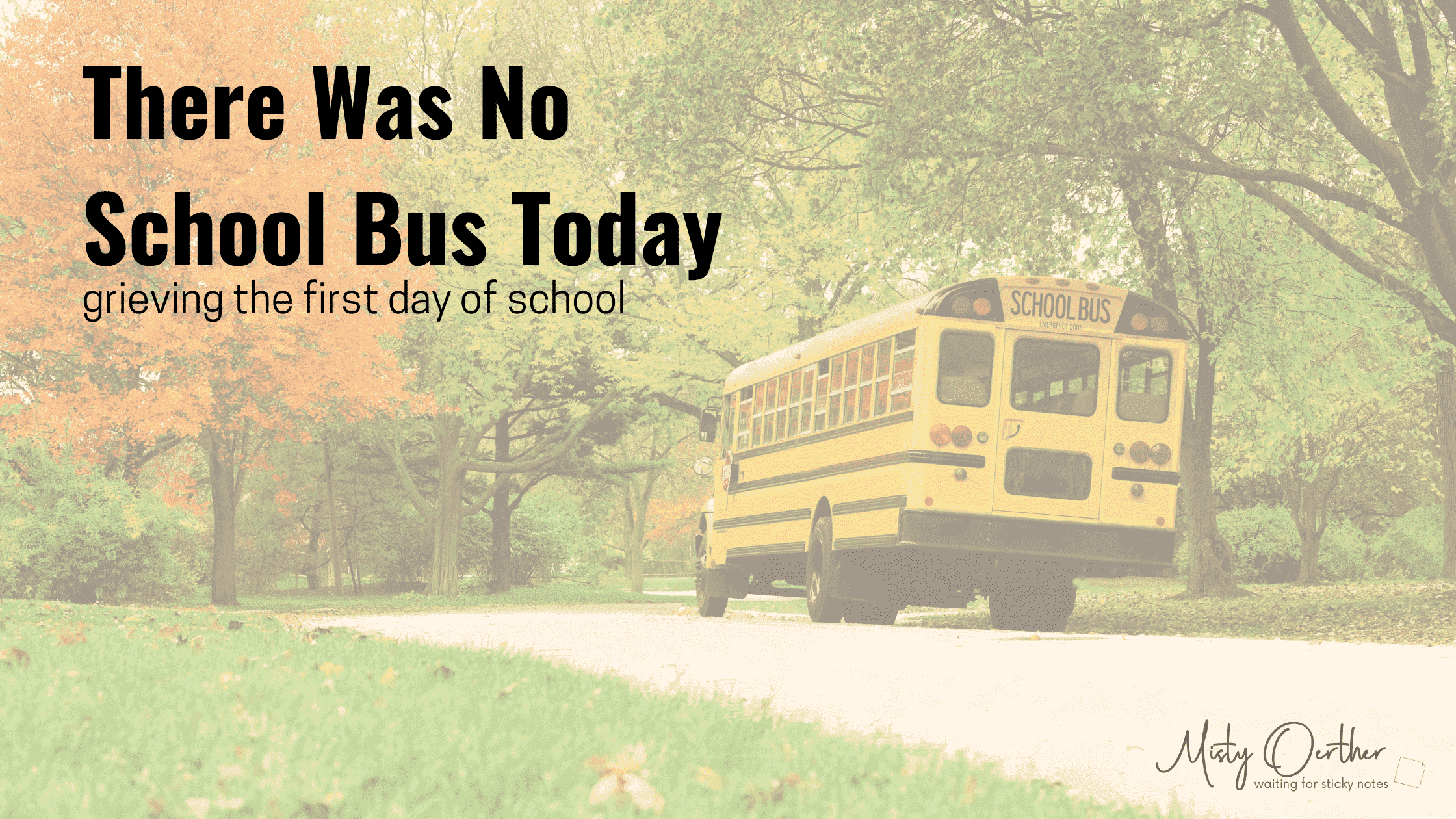 There Was No School Bus Today