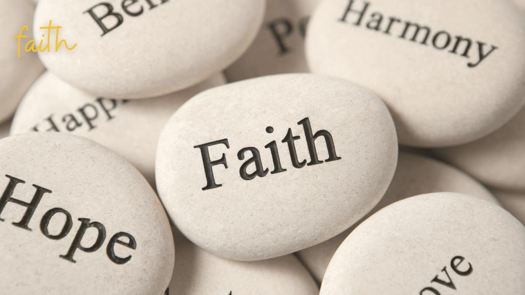 faith on rocks