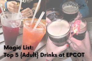 Cover image, drinks at Epcot and post title